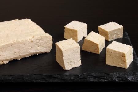 Fresh tofu cut into cubes