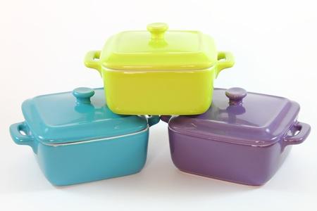 Three cooking pots