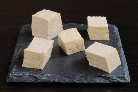 Tofu cubes Stockfoto