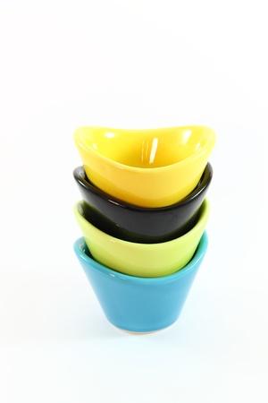 Four ceramic bowls