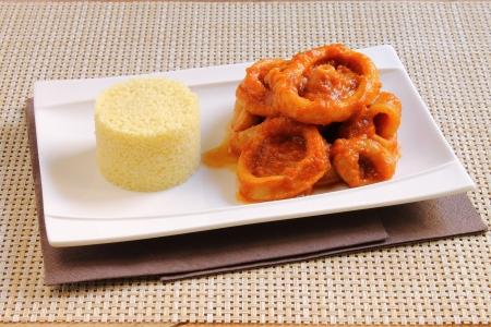 Calamari with couscous