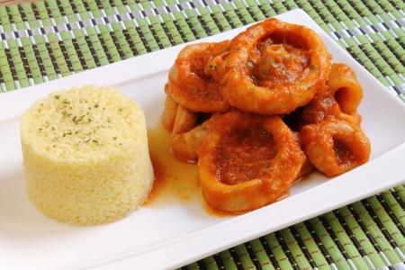 Calamari and couscous