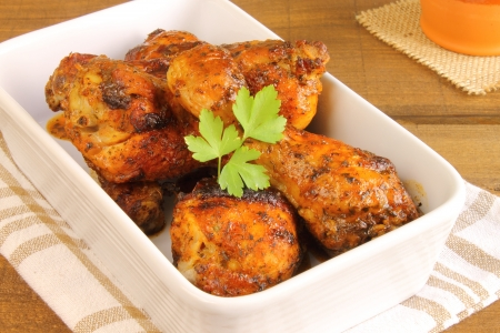 Roasted chicken thighs Stock Photo - 20235510