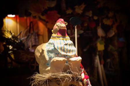 tradition: chicken decoration tradition boqueria barcelona