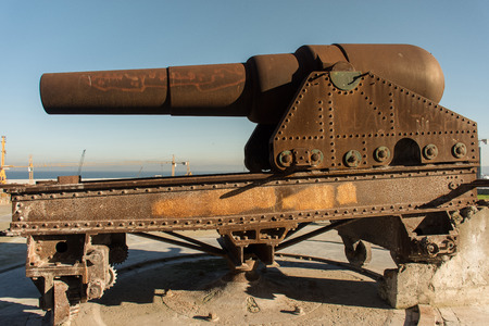 seafronts: British guns on the walls of the fortress tangeri