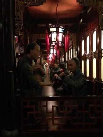 Old china bar representation at shanghai tower museum Imagens