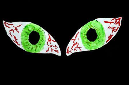 b�se augen: Ein Foto von einem b�sen Augen gequ�lt