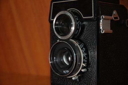 reflex: Old doppia fotocamera reflex a lente Archivio Fotografico
