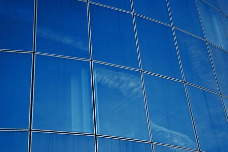 imperialism: Glass facade Stock Photo