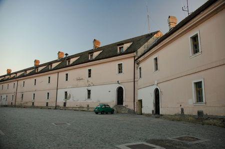 barracks: Old military barracks on top of Petrovaradin fortress Stock Photo