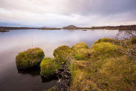 beautiful Sunset at lake in South Iceland europe Banco de Imagens