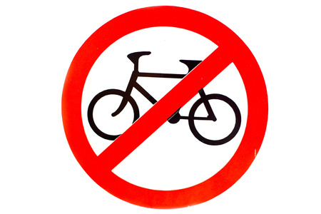 Sign no bicycle photo