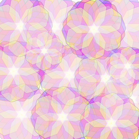 background with translucent colored flowers Illustration