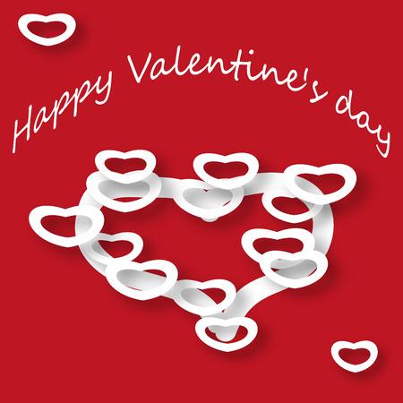 st  valentine: Postcard St. Valentine Day Illustration