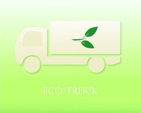 hauling: Eco truck. Icon. Modern Vector illustration. Eco Concept Illustration