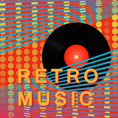 Abstract vintage retro music poster. The vinyl record. Modern poster design. Vector illustration.