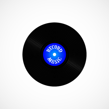 The vinyl record. Isolated on white background. Vector illustration.