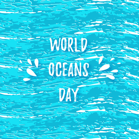 World Oceans Day Card. June 8. Suitable for poster, banner, campaign, and greeting card . Vector illustration Vector 일러스트
