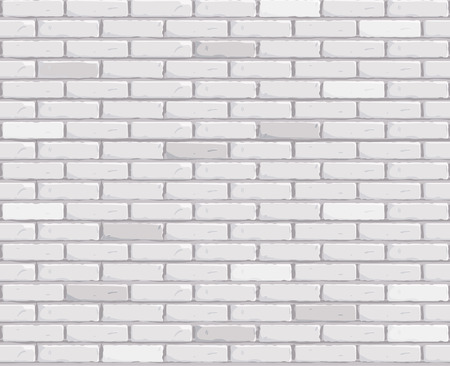 Mur de briques blanches Texture transparente Illustration vectorielle. Illustration vectorielle Vecteurs