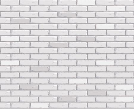 White brick wall Texture seamless Vector illustration. Vector illustration Vettoriali