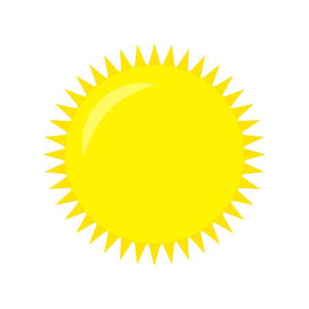 Weather Icon. Vector Sun on a White background. Vector illustration.