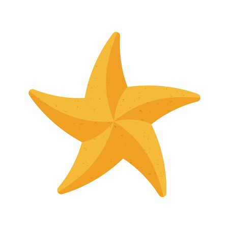 Starfish from the sand on a white background.. Beach toy. Children summer games. Vector illustration