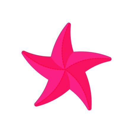 Child starfish form icon on a white background. Toy for sandbox. Children summer games. Vector illustration