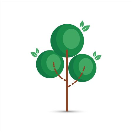 Simple tree on a white background. Ecology or nature . Vector illustration