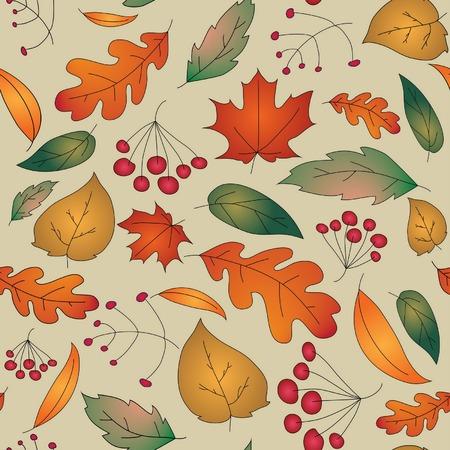 Fall pattern Vector Illustration