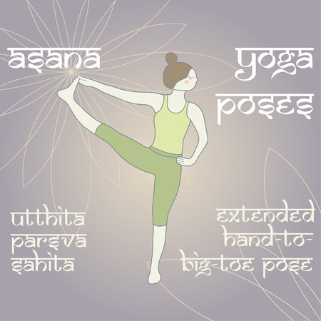 big toe: Utthita Parsva Sahita. Extended Hand-To-Big-Toe Pose. Asana. Yoga Poses.