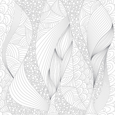 Seamless abstract line pattern. Art and Color Therapy. An Anti Stress Coloring Book.