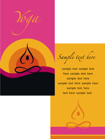 yoga brochure Vector