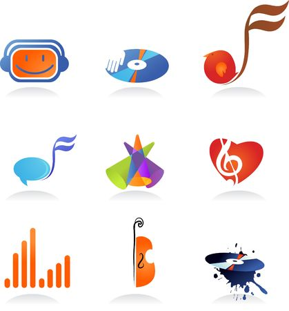 A set of music related icons and symbols photo