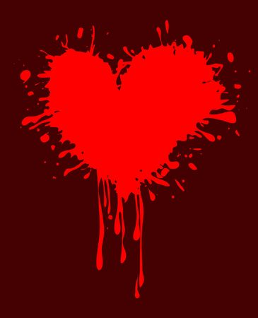 stained red heart for Valentine's day Stock Photo - 6294313