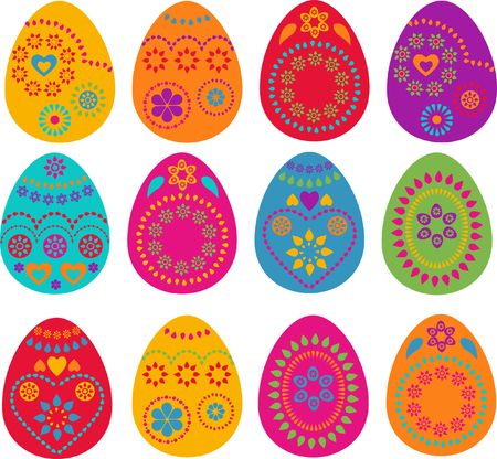 a set of colored Easter eggs - design Stock Photo - 6481672