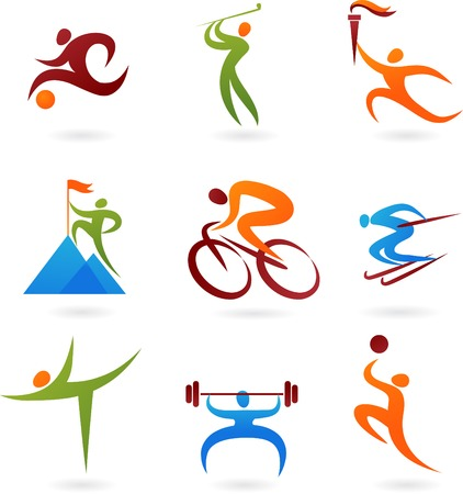 Set of colorful sport icons Vector