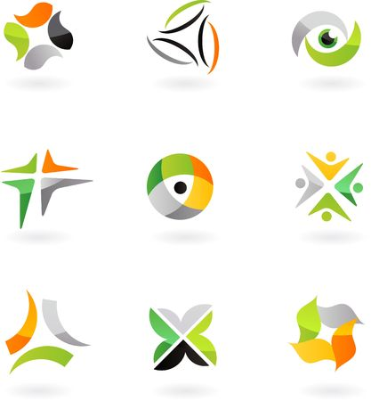 collection of abstract icons - 8. To see similar, please visit MY GALLERY  Illustration