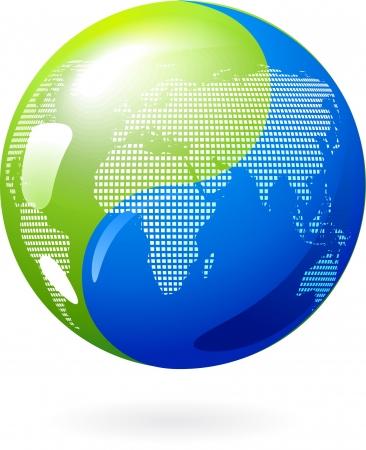 yang yin: Abstracto fondo de tierra, con el s�mbolo Yin Yang  Vectores