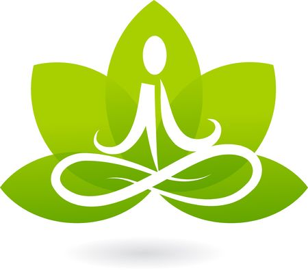 Yoga lotus icon  logo