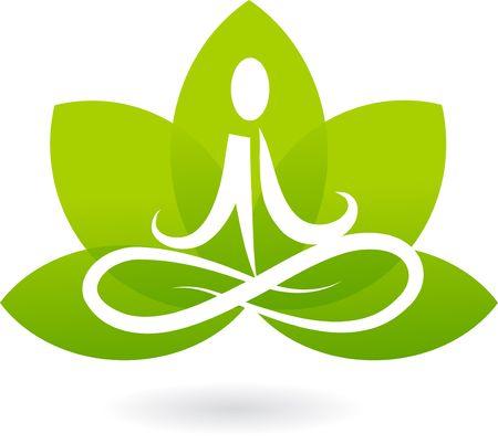 Yoga lotus icon / logo Stock Vector - 6789353