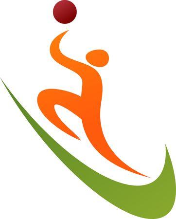 figure logo: Esquema abstracto de un jugador de baloncesto.