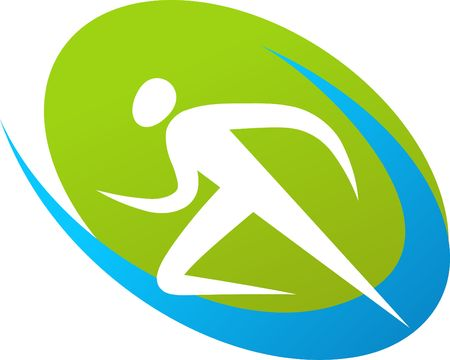 Abstract outline of a runner Vector