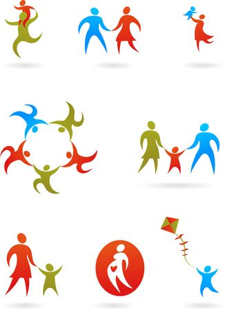 family clip art: Collection of family icons