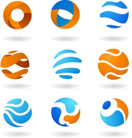 figure logo: Colecci�n de iconos de mundo abstracto