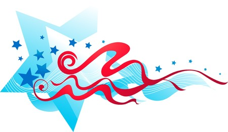 4th: Abstract stars and stripes banner