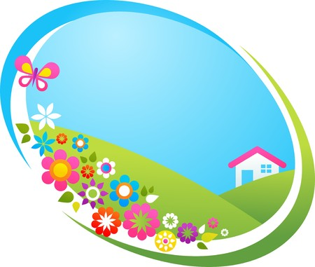 Summer cottage in a countryside Stock Vector - 7143405