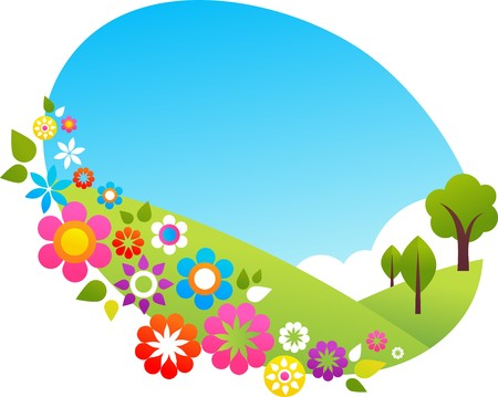 Summer hiils  in the countryside Stock Vector - 7143406