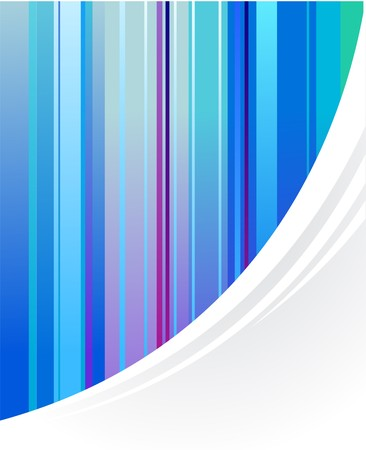 Abstract blue vertical striped background Stock Vector - 7143370