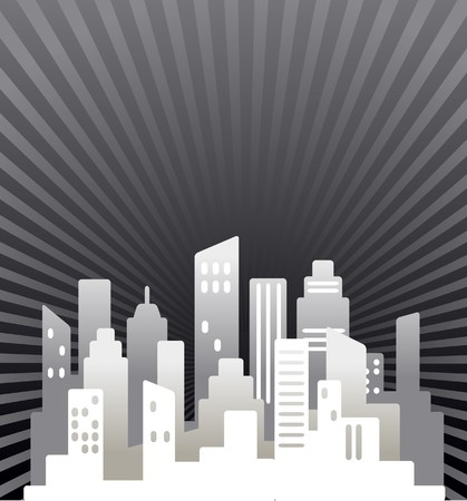 building real estate modern: Black and white  abstract real estate background Illustration