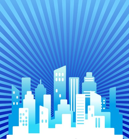 Blue abstract real estate background Stock Vector - 7143397
